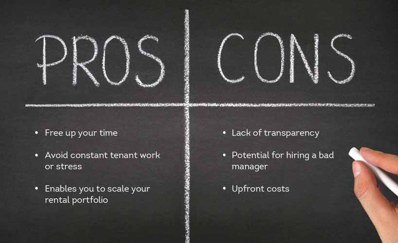 pros and cons to consider when hiring property manager